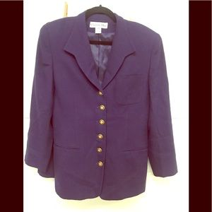 Vintage Christian Dior purple jacket/skirt set